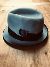 Stetson Trilby Hat Felt - Size 57 - Vintage- Grey - Made In Australia