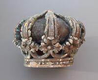 UNIQUE grande couronne en bois du XVIIIème royale 18 haute époque 17ème
