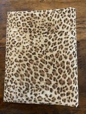Fat Quarter Brown Leopard Print Cotton Quilting Fabric