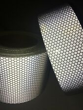 New Silver High Intensity Reflective Tape Vinyl Self-Adhesive 100mm×5m Roll