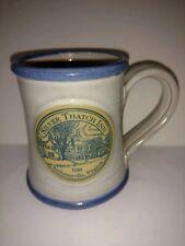 Silver Thatch Inn Deneen Pottery Coffee mug blue trim 12 oz