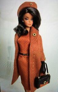 Virginie Fashion for Barbie Silkstone Rust Dress Coat Hat Bag Gloves Jewelry