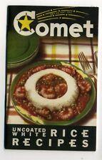 1934 Beaumont Texas Comet Rice Mills COMET RICE RECIPES, features Negro butler
