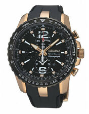 Seiko Sportura SNAF28 SNAF28P1 Mens Watch Alarm Dual Time Chronograph RRP $950