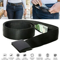 Travel Security Money Belt with Hidden MoneyPocket Cashsafe Anti-Theft WalletBLU