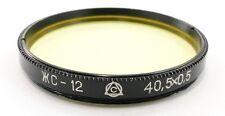 Russian Yellow Y-12 Lens Filter 40.5mm Jupiter-3 8 11 12 Industar-61 L/D 26m #70