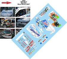 DÉCALS 1/43 réf 1253 PEUGEOT 306 Maxi Bonfils  Mont Blanc 2007