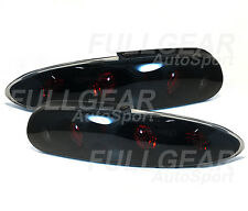 BLACK w/ SMOKE LENS ALTEZZA STYLE TAIL LIGHT PAIR SET FOR CHEVY CAMARO 1993-2002