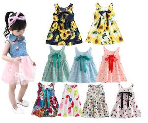 Toddler Girls Summer Princess soft cotton Dress girls Party daily holiday Dress