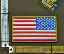 """Ricamata / Embroidered Patch Reverse """"USA Big Flag """" with VELCRO® brand hook"""