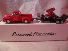 ROAD CHAMPS 1/43 Eastwood Automobila -1952 CHEVY PICKUP mit Hänger und Rennmobil