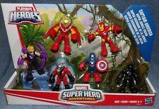 PLAYSKOOL HEROES 2015 MARVEL SUPER HERO ADVENTURES SUPER JUNGLE SQUAD 6 FIGURES