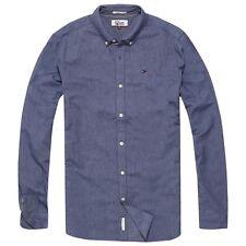 TOMMY HILFIGER Camisa - Jeans Oxford de manga larga - Azul Marino/ blanco/ Cielo