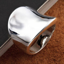 Men Top Jewelry 925 Silver Plated Retro Thumb Finger Band Ring 8.5 Size