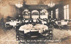 Main Dining Room, El Cortez Hotel, San Diego, CA., Early Real Photo Postcard