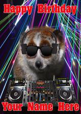 Lento Loris j560 Clubbing Cool DJ Divertido Lindo Personalizado De Cumpleaños Tarjeta