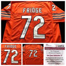 William Perry Chicago Bears Signed Autograph FRIDGE Football Jersey JSA COA