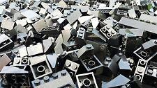 100 schwarze Lego® Basic Dachsteine / Dachziegel schwarz  - City - Haus (L013)