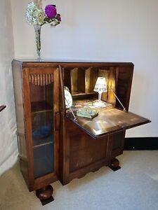 Early Art Deco Bureau / Drinks Cabinet Arts & Crafts Bureau / Writing Desk