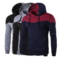 Invierno Hombre Entallado Sudadera Con Capucha Cálido abrigo chaqueta jersey