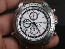 NEW SECTOR 270 ALARM CHRONOGRAPH JAPAN MOVT SPORTS 100M DATE QUARTZ MENS WATCH