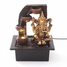 Indoor LED Light Table Top Desk Fountain Ganesha Water Feature Feng Shui Home