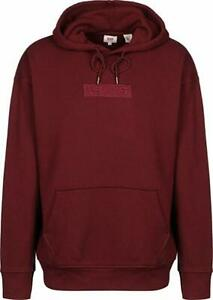 Levis Mens Jeans Baby Tab Box Hoodie Relaxed Graphic Tonal CABERNET - RED JT