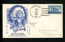 US Postal History States Related Frontier Days 60th 1956 Cheyenne WY Indian