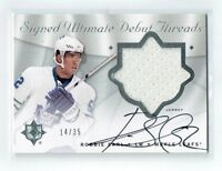 08-09 UD Ultimate Signed Debut Threads  Robbie Earl  /35  Auto  Jersey