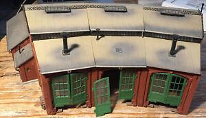 VOLLMER HO Remise 3 locomotives bâtiment pour rotonde gare marchandise industrie