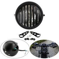 "Motorcycle Cafe Racer 6.5"" Round Headlight Bulb Hi/Lo Beam Side Mount Light 35W"