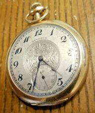 Antique 1910 Hamilton [Size 12] 19 Jewels [10k Gold Filled] Pocket Watch.