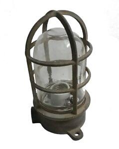 Vintage Brass Hanging Lamp Antique