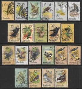 Barbados 1979-83 Birds Set (Fine Used)