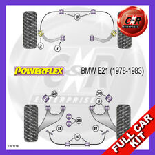BMW E21 3 Series (1978 - 1983) Non Adjust Powerflex Complete Bush Kit