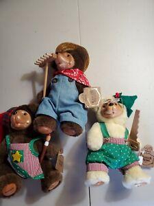 Robert Raikes Bears Genuine Christmas Craftsmen Tinker Sawyer Rembrandt NWT