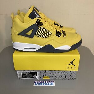 Air Jordan 4 Lightning Size 11 Tour Yellow Deadstock New In Hand Ready To Ship