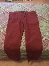 Maroon Men's Victorious Premium Jeans Pants Size 36 Waist