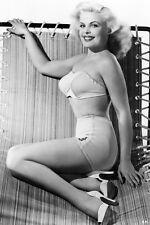 Cleo Moore In Bikini On Chair 11x17 Mini Poster