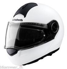 Schuberth C3 BASIC GLOSS WHITE Flip Front Motorcycle Helmet +5 years warranty