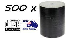 500 x DVD-R/DVDR Blank Disk/Disc PLAIN WHITE INKJET PRINTABLE SURFACE 500pcs,Pk