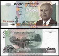 Cambogia 5000 riels (P55d) 2007 UNC