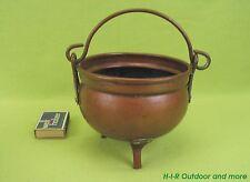 Sehr alter massiv Kupfer Kessel Blumentopf Blumenübertopf Henkeltopf Vase B30