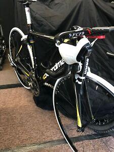 Boardman Team full carbon road bike sram force groupset. cinelli garmin fizik