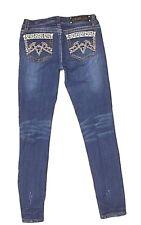 L.A Idol Skinny Jeans Womens Jeans Size 9 Embellished Rhinestone Bling (V)