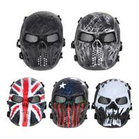 Outdoor Airsoft Paintball Tactical Full Face Protection Skull Halloween