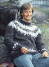 "Men's Chunky Nordic Pullover 32 - 42"" Knitting Pattern 10162"