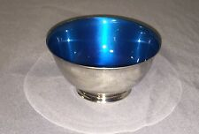 """Vtg Paul Revere Reproduction Bowl Wm Rogers Silver Plated Footed Shiny 4""""Tx2"""" D"""