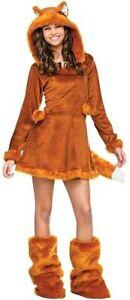 Teen Sweet Fox Hoodie Dress Costume Size Junior 0-9 (Used)
