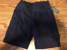 NWT Boys Eddie Bower Navy Cargo Shorts Pull On Dressy / Casual Bermuda Sz 16